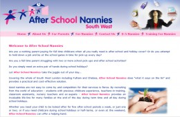 After School Nannies Website