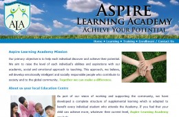 Aspire Learning Academy Website