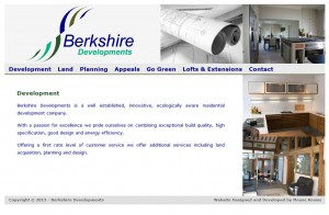 Berkshire Developments Website Design