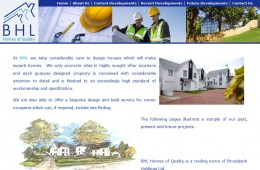 BHL Homes of Quality Website Design
