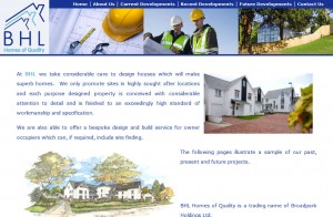 BHL Homes of Quality Devon Website Design