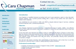 Cara Chapman Accountancy Website
