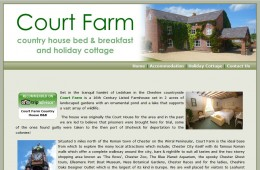 Court Farm B&B Website Design