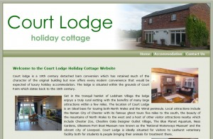 Court Lodge Holiday Cottage Website Design