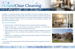Cristal Clear Cleaning Web Design