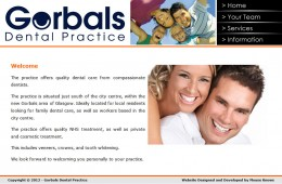 Gorbals Dental Practice Web Design