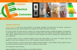 Ledsham Electrical Website Design