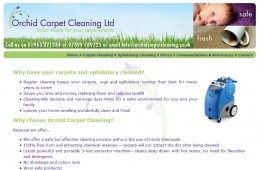 Orchid Carpet Cleaning Website Design